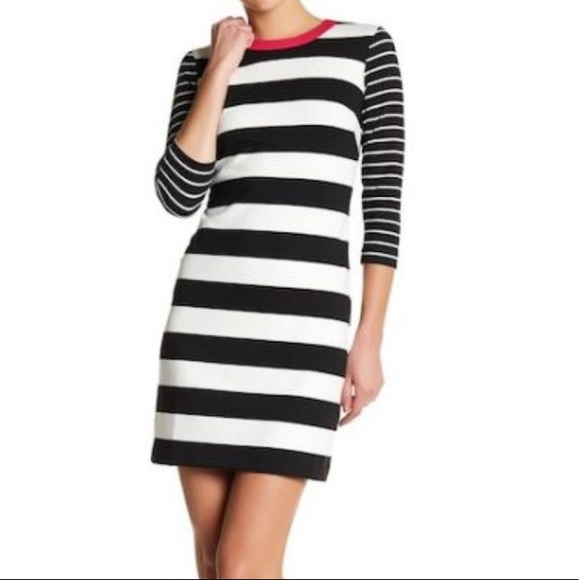 Eliza J Signature Striped Shift Dress Size 8 NWT NWT
